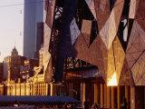 Exterior Detail of Federation Square, Melbourne, Australia Reproduction photographique par John Banagan