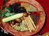 Selection of Spices for Sri Lankan Cooking, Sri Lanka Fotografie-Druck von Richard Nebesky