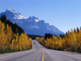 Vehicle on Icefields Parkway Near Crossing, Banff National Park, Canada Photographic Print by Philip & Karen Smith