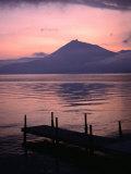 Mt. Eniwa and Lake Shikotsu-Ko at Sunset, Shikotsu-Toya National Park, Japan Photographic Print by Martin Moos