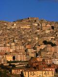 Townscape on Monte Marone, Gangi, Italy Photographic Print by Wayne Walton