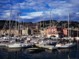 Yachts and Sailing Boats in the Historic Harbour, Genova, Liguria, Italy Photographic Print by Setchfield Neil