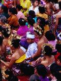 Crowd at Usaba Sambah Festival, Tenganan, Bali, Indonesia Reproduction photographique par Richard I'Anson