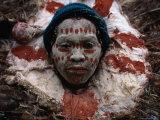 Kikuyu Man in Ceremonial Dress, Kenya Fotografisk tryk af Jane Sweeney
