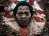 Kikuyu Man in Ceremonial Dress, Kenya Lámina fotográfica por Jane Sweeney