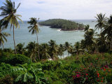 Ile Du Diabla (Devils Island) from Ile Royale in Iles Du Salut Group, French Guiana Photographic Print by Wayne Walton