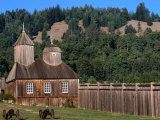 Building in Fort Ross Historic State Park, California, USA Photographic Print by Stephen Saks
