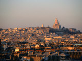 Cityscape with Sacre-Couer Basilica, Paris, France Photographic Print by Martin Moos