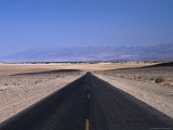 Long, Straight Road Through Death Valley, Death Valley, California, USA Photographic Print by Stephen Saks