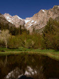 Lake in Front of Palisade Glacier, Owens Valley, California, USA Photographic Print by Stephen Saks