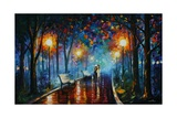 Misty Mood Of Afremov Stampe di Leonid Afremov