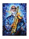 Sonny Rollins Poster di Leonid Afremov