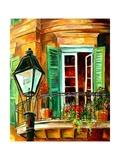 Balcony In The French Quarter Affiche par Diane Millsap