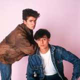 Wham Pop Group George Michael and Andrew Ridgeley Reproduction photographique