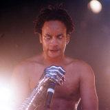 Mc Maxim Member of Prodigy Pop Group, July 1997 Fotografie-Druck