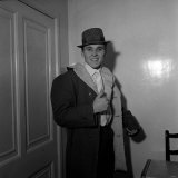 Billy Fury Leaving the London Clinic Fotografisk tryk