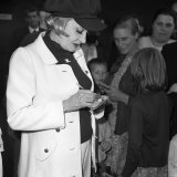 Marlene Dietrich Arriving at Heathrow Airport from Paris, Signing Autographs Photographic Print