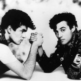 George Michael and Andrew Ridgeley Co-Stars in Wham Pop Group, 1983 Reproduction photographique