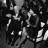 Charlie Chaplin and Sophia Loren at a Press Conference, November 1965 Photographic Print
