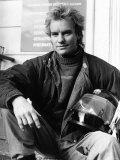 Sting Singer with Pop Group Police AKA Gordon Sumner, 1984 Fotografisk tryk