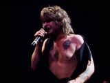 Black Sabbath Singer Ozzy Osbourne Peforming During a Concert at Hammersmith Odeon in London, 1983 Fotografisk tryk