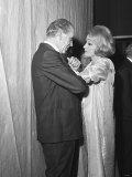 Marlene Dietrich with Matt Busby Photographic Print