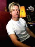 Singer David Bowie Relaxing in His Paris Hotel Room, October 2003 Photographic Print
