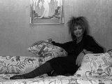 Singer Tina Turner on Tour Photographed in Her Hotel Room in Paris Fotografie-Druck