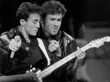 Andrew Ridgeley and George Michael of Wham, 1986 Reproduction photographique