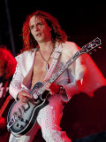 Justin Hawkins Lead Singer of the Darkness, Main Stage at T in the Park Fotografie-Druck