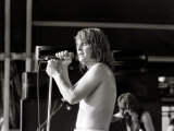 Black Sabbath Singer Ozzy Osbourne Performing on Stage During a Concert, August 1981 Photographic Print