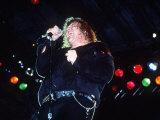 Meatloaf Rock Singer Performing on Stage at the Reading Rock Festival Fotografisk tryk