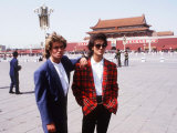 George Michael and Andrew Ridgeley Members of Pop Group Wham Reproduction photographique