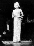 Marlene Dietrich on Stage at the Wimbledon Theatre Photographic Print
