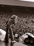 The Who in Concert, Roger Daltry on Stage at the Charlton Athletic Football Club Ground, May 1976 Photographic Print