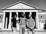 Genesis Rock Group Phil Collins Mike Rutherford Tony Banks on Tour in the USA Fotografisk tryk