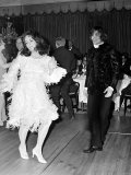 Elizabeth Taylor Dancing with Nureyev Wearing an Unusual Feathered Dress, March 1968 Photographic Print
