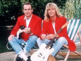 Status Quo Rock Band Members Rick Parfitt and Francis Rossi Fotografisk tryk