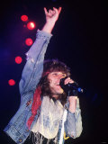 Jon Bon Jovi Performing with Band at Hammersmith Odeon in 1986 Fotografisk tryk