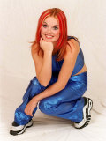Geri Halliwell Singer with the All Woman Pop Group Spice Girls Fotografie-Druck