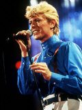 David Bowie Performing on Stage Photographic Print