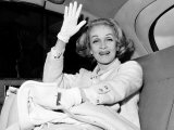 Marlene Dietrich Sitting in Back of Car, September 1965 Photographic Print