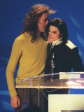 Michael Jackson and Bob Geldof at the Brit Awards 1996 Fotografisk trykk