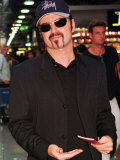 George Michael Leaves Heathrow Airport for Los Angeles, September 1998 Reproduction photographique