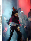 Michael Jackson at the Brit Awards 1996 Where He Won a Special Award for Artist of a Generation Fotografisk trykk
