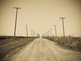 USA, Texas, Route 66, Abandoned Town of Jericho Fotoprint van Alan Copson