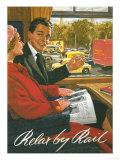 Great Britain - British Railways Relax by Rail Poster Láminas por  Lantern Press