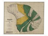 Hawaii - Panoramic Lanai Island Map Posters av  Lantern Press