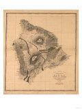 Hawaii - Panoramic Hawaii Island Map Posters av  Lantern Press