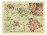Hawaii - Panoramic State Map Posters av  Lantern Press
